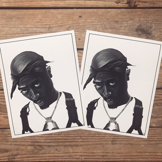 Image of Tupac Shakur Print *LIMITED*