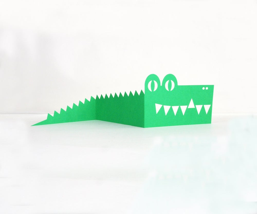 Image of 2x  Crocodile Cards