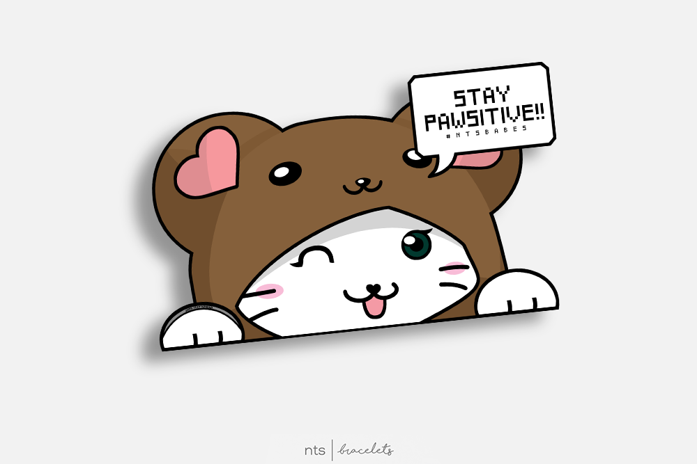 Image of #NTS: STAY PAWSITIVE STICKER