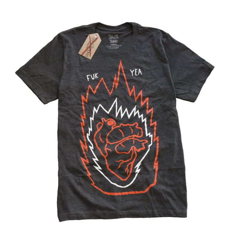 Image of Burning Heart t-shirt