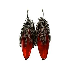 Image of Creature Earrings - Red