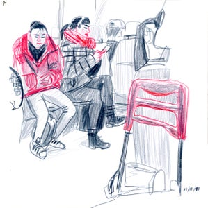 Image of Daily Commuters - Girls in RED - PRINT Edición limitada a 5
