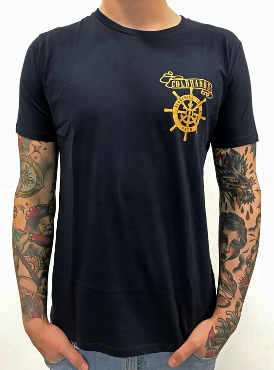 Image of COLDHANDS - Wheel Shirt - Navy