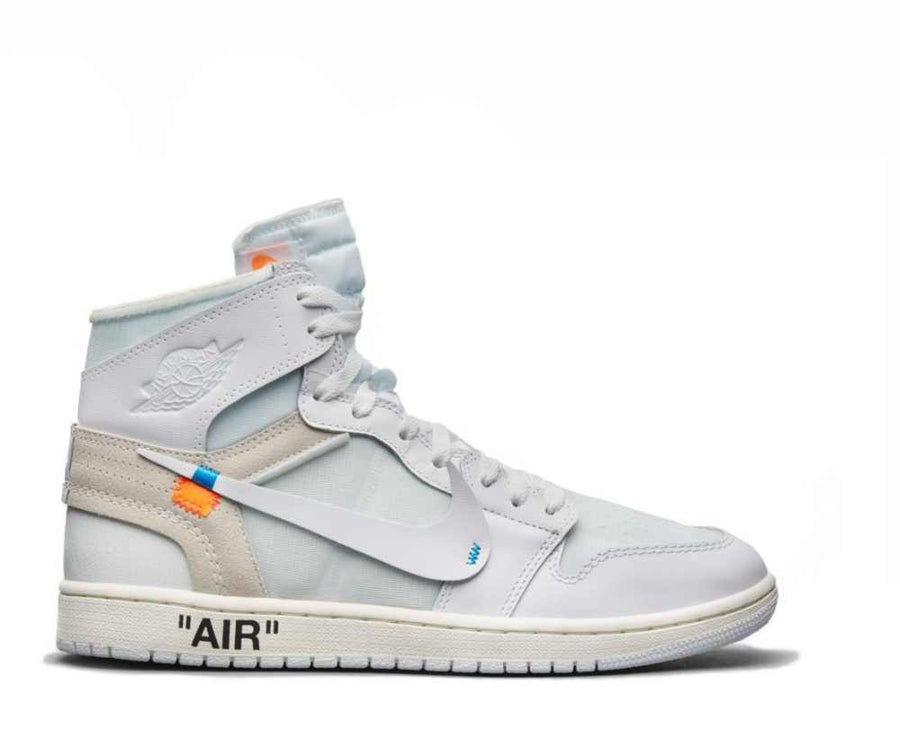 Image of NIKE X OFF WHITE AIR JORDAN 1 WHITE NRG AQ0818-100