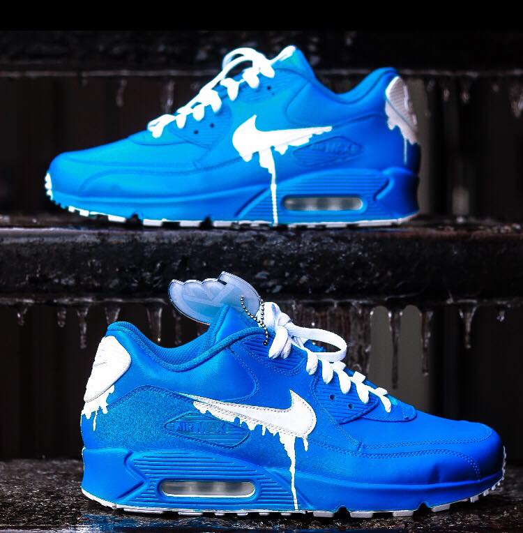 Nike Air Max 90 Candy Drip White Royal Blue Trainers Online