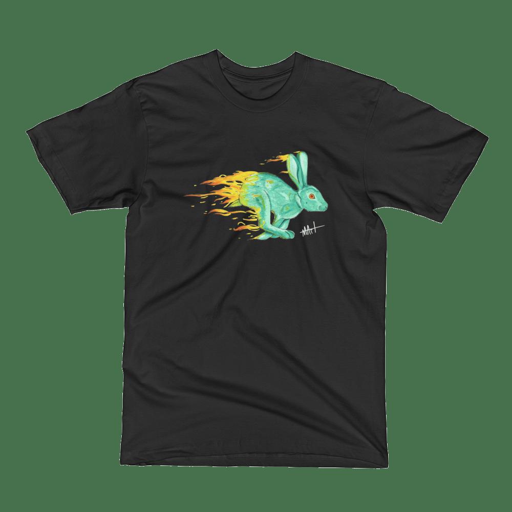 Image of Fire Rabbit T-Shirt Black