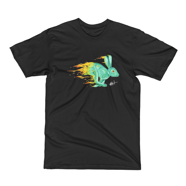 Image of Fire Rabbit T-Shirt Black