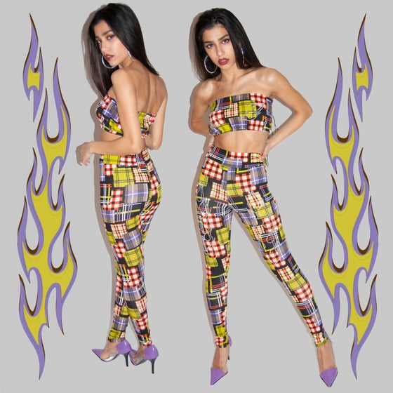 Image of Fuego Plaid Tube top & Pants