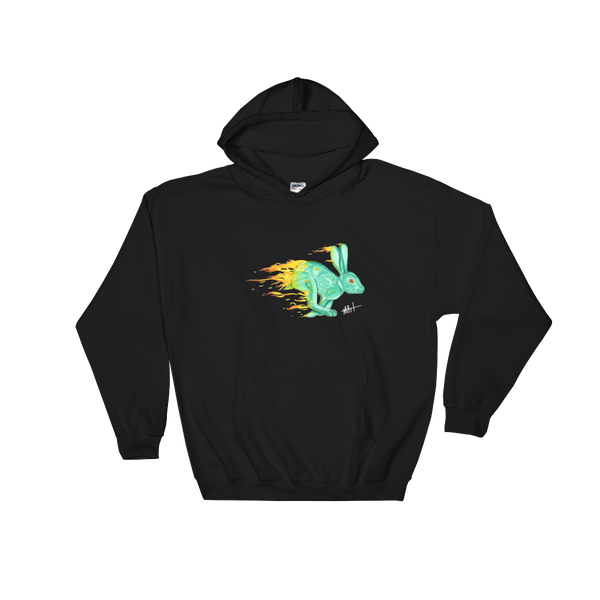 Image of Fire Rabbit Hoodie Black