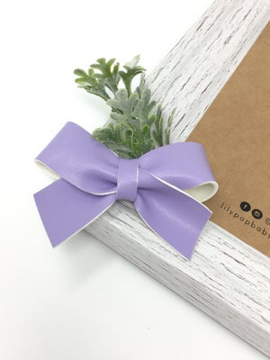 Image of Smooth Faux Leather Bow (Single-Ready to Ship)
