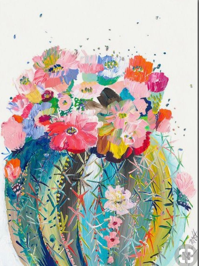 Image of Pop up Paint Night : Cactus Bouquet Friday 23 November  7 -9pm