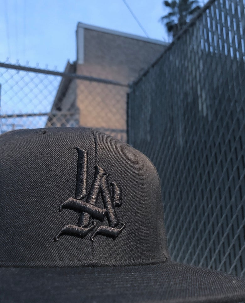 Image of LA Black on Black Snapback