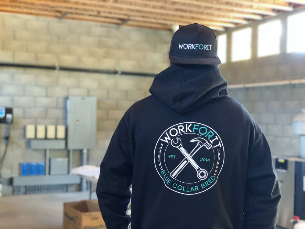 "Image of ""BLUE COLLAR BRED"" HOODIE"