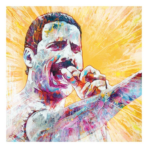 Image of Freddie Mercury OPEN EDITION PRINT - FREE WORLDWIDE SHIPPING!!!