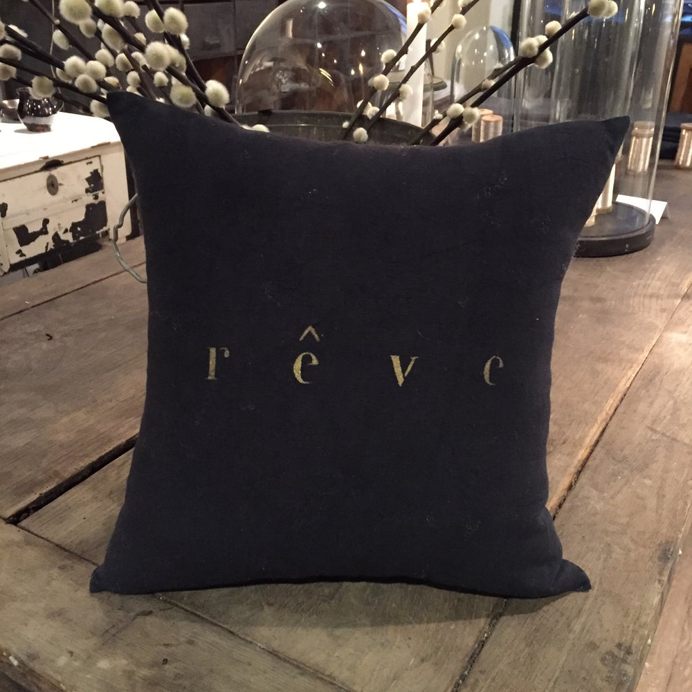 Image of Coussin noir rêve or