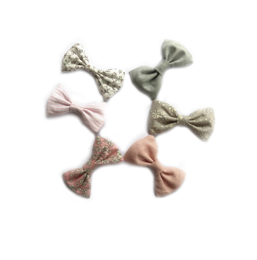 Image of Wildflower Clara Bows - grey and pinks