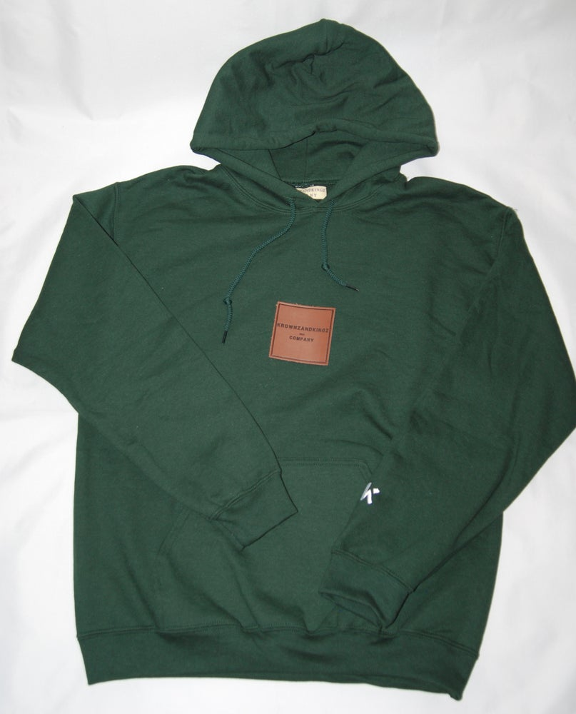 Image of Forest Green Patch Hoodie