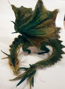 Image of Felt and Mixed Media Dragon
