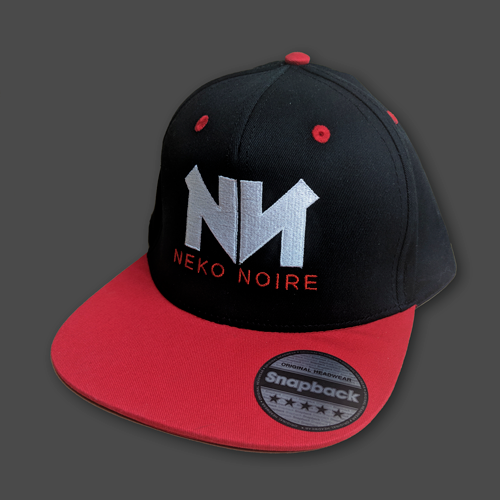 Image of Neko Noire Snapback (Black / Red)