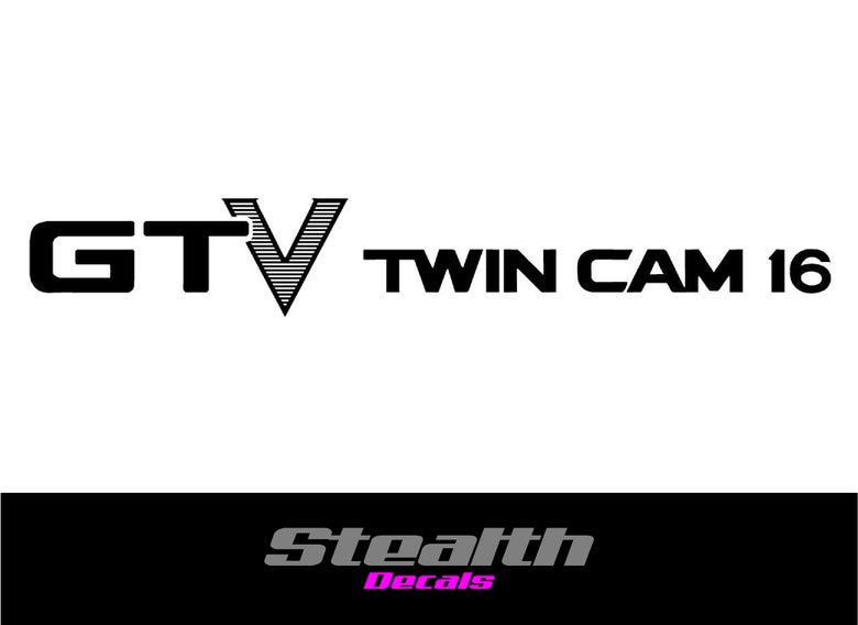 Image of AE86 GTV TWIN CAM 16 Rear hatch decal