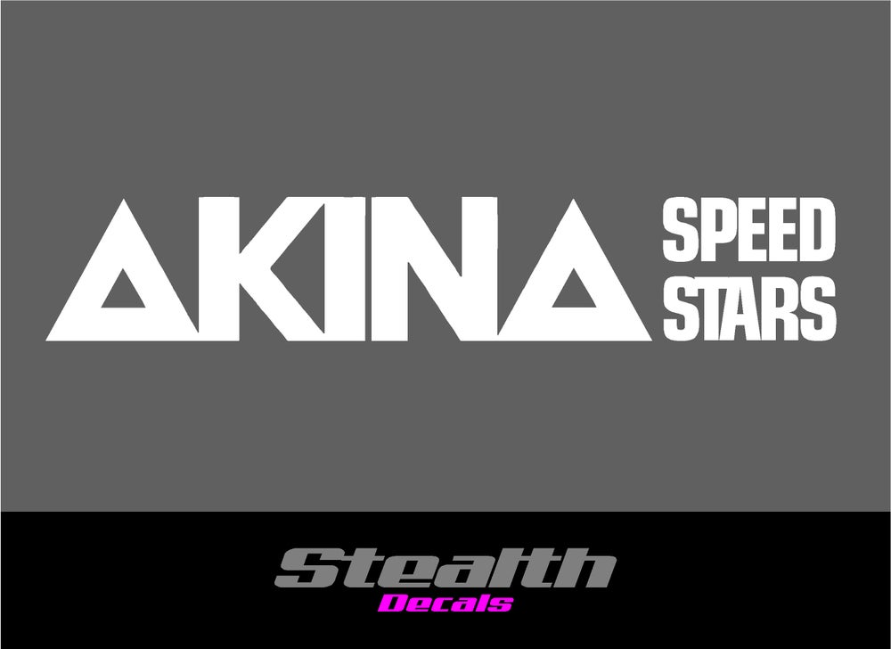 Image of 3x AKINA SPEED STARS stickers/ decals