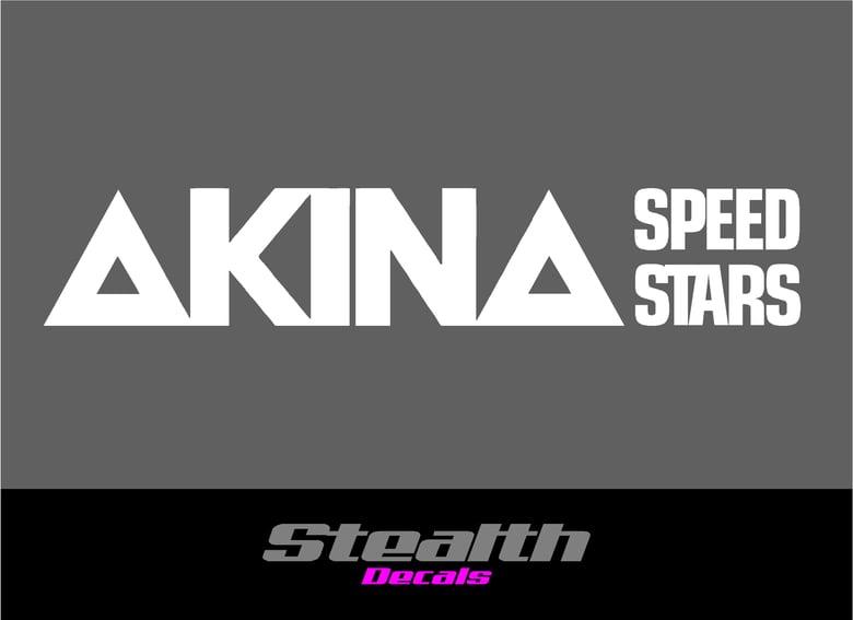 Image of 3x AKINA SPEED STARS stickers/ decals