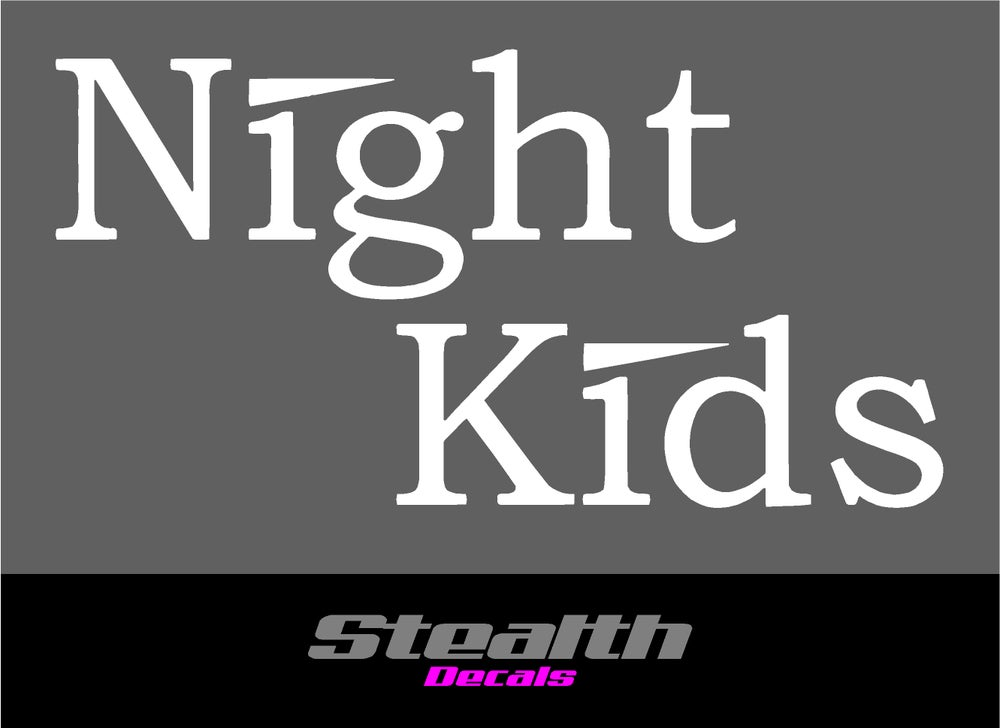 Image of 3x NIGHT KIDS Initial D decals Stickers