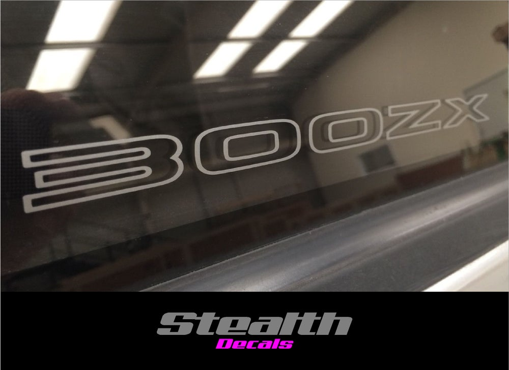 Image of 2x Nissan 300ZX Etched Rear Quarter Window Decals.Stickers Fairlady Z