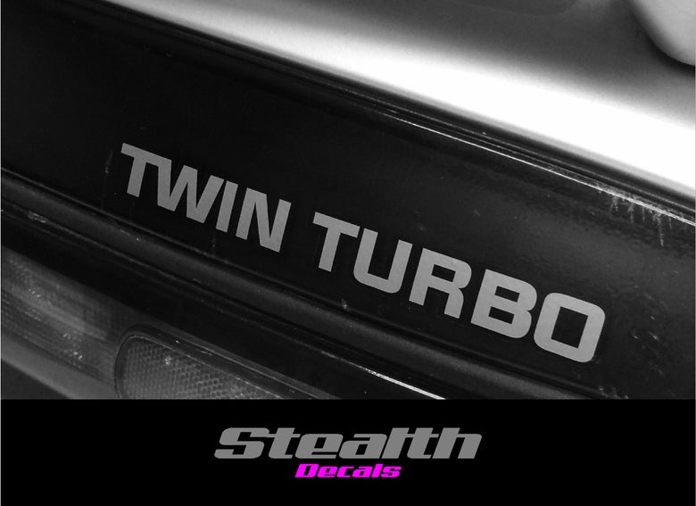 "Image of Nissan 300ZX Fairlady ""TWIN TURBO""Rear hatch decal"