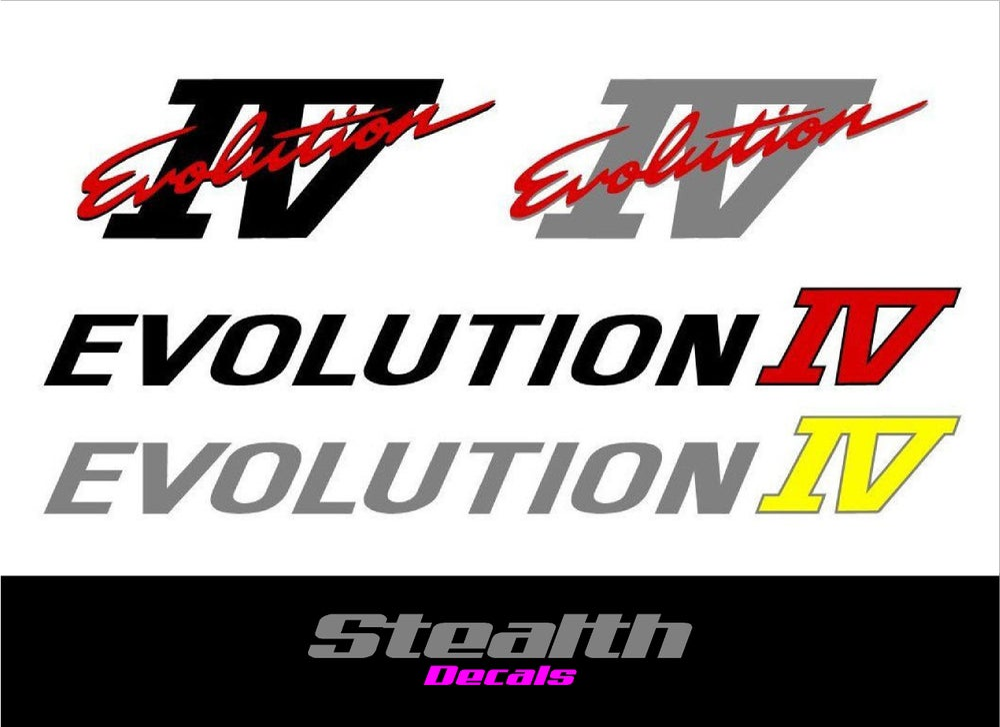 Image of Mitsubishi evolution 4 IV decal sticker kit
