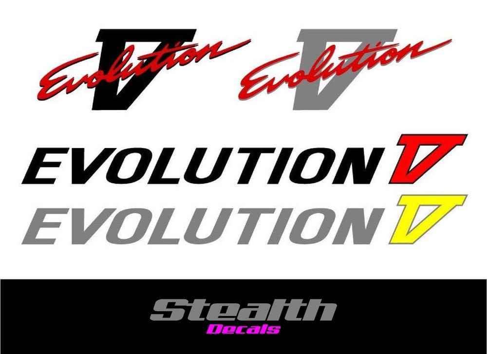 Image of Mitsubishi evolution 5 V decal sticker kit
