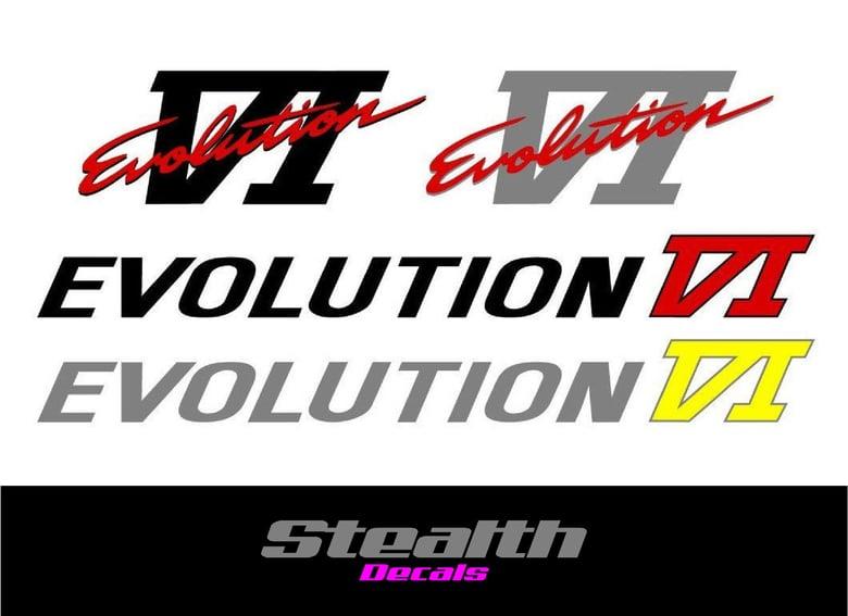 Image of Mitsubishi evolution 6 VI decal sticker kit