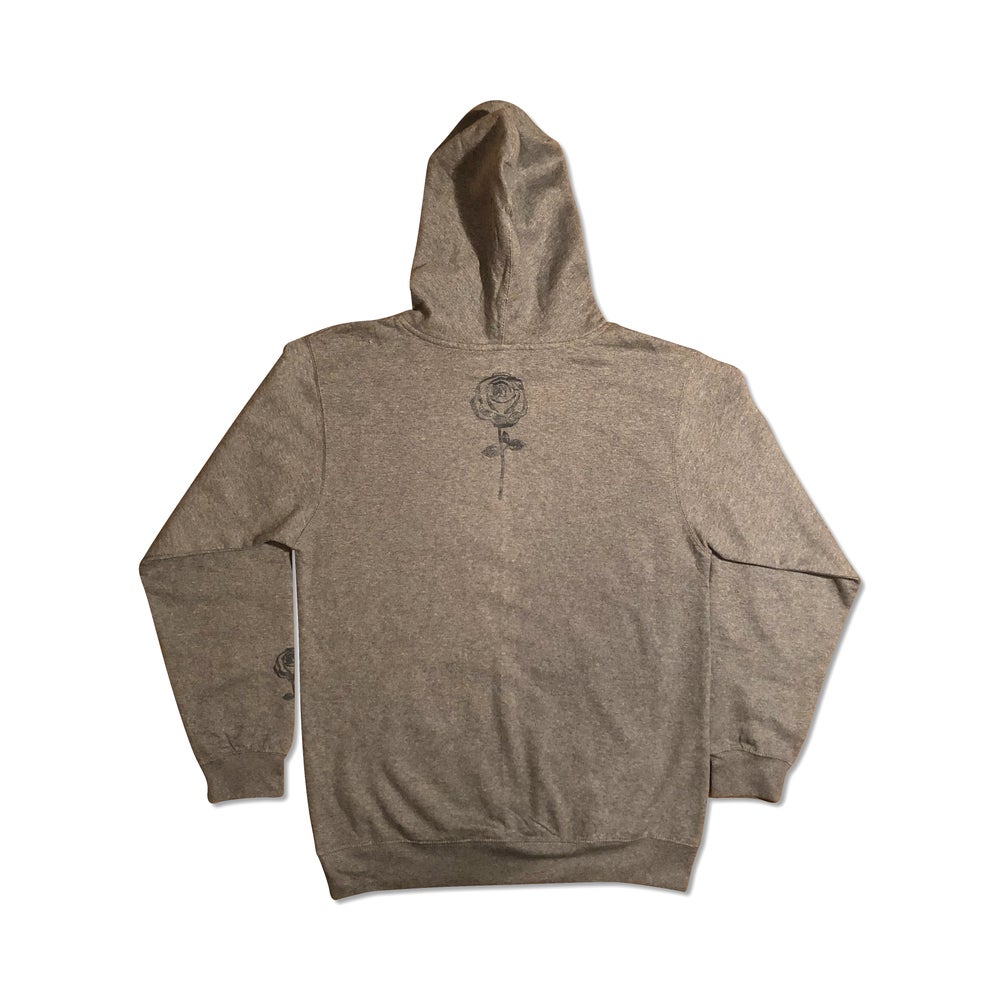 Image of Cool Grey Concrete Rose Pullover Hoodie