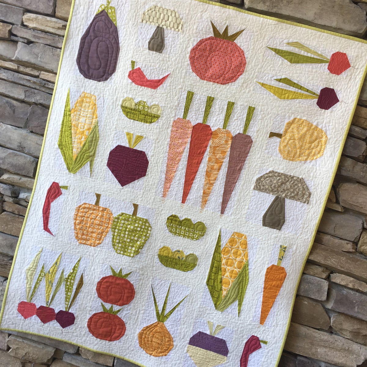 Eat Your Veggies Quilt Pattern Modern Quilting By B