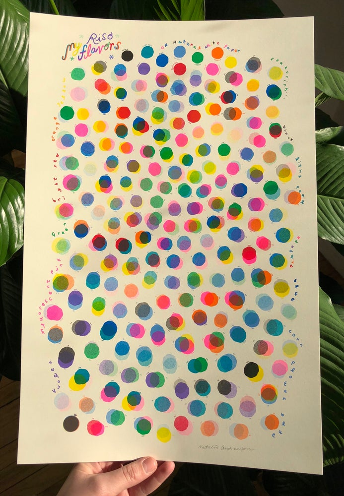Natalie Andrewson My Riso Flavors Large Poster Sized Color Chart