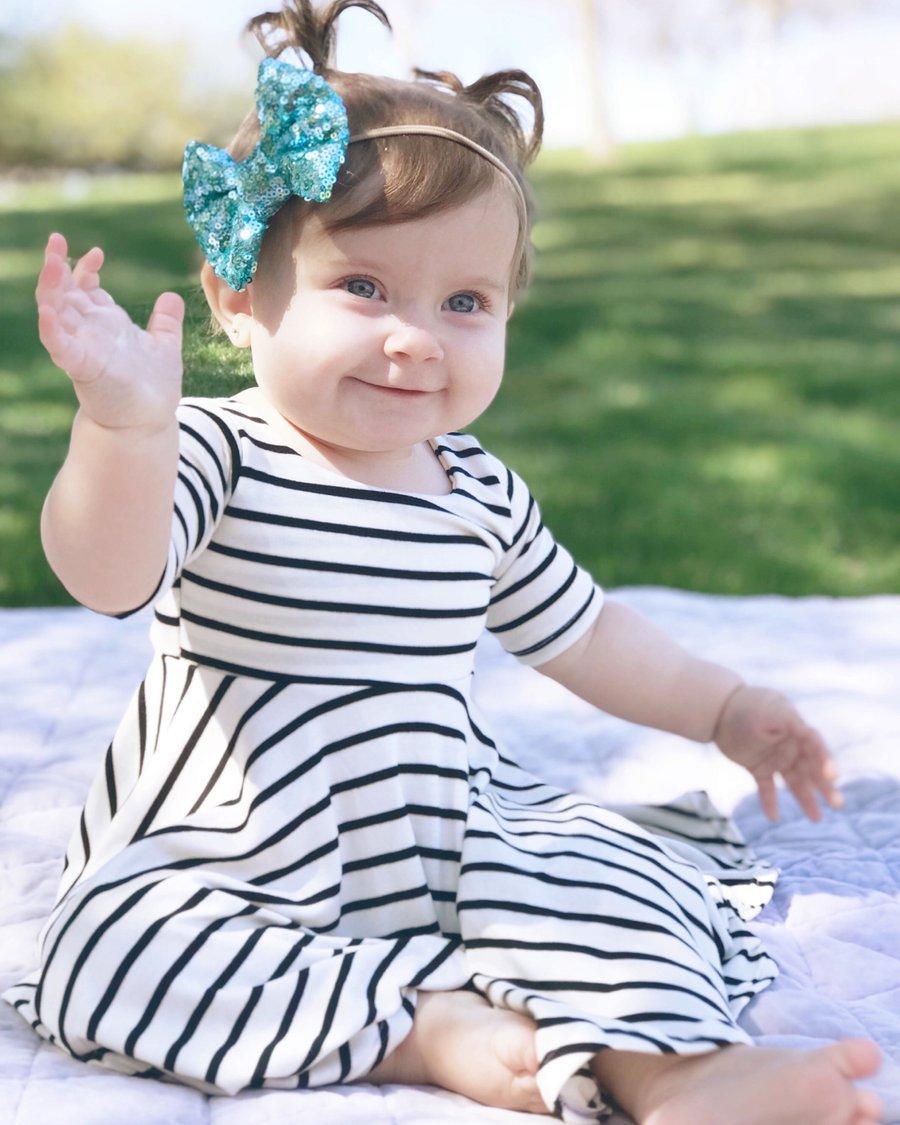 Image of Baby/Girls Pinstripe Twirly