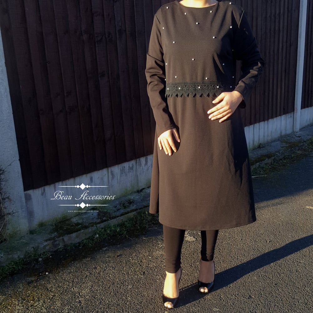 Image of Black Pearl Long Dress (Was £16.99)