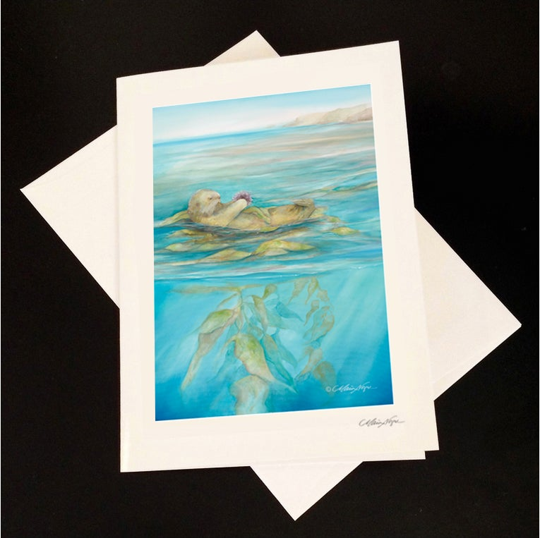 Image of Sea Otter 5-Pack Greeting Card Set