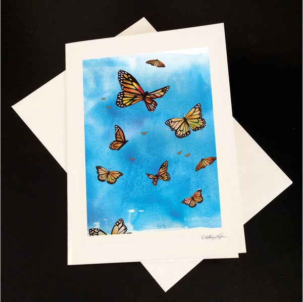 Image of Butterflies 5-Pack Greeting Card Set