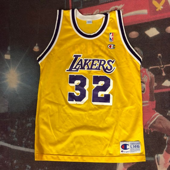 Image of Vintage Champion LA Lakers Jersey - Magic Johnson - Size Large