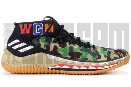 "Image of Adidas DAME 4 ""A BATHING APE"""