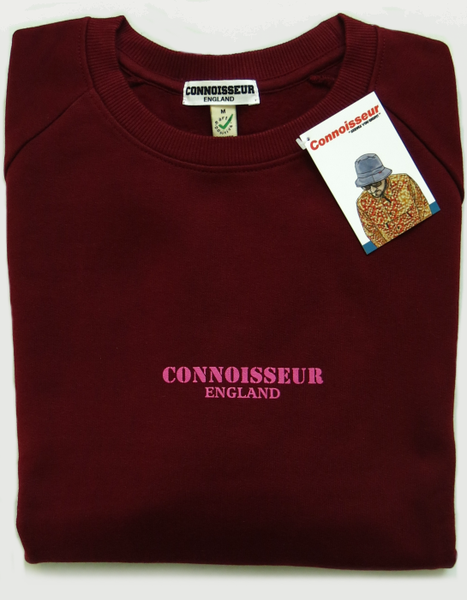 Image of SWEATSHIRT 'CONNOISSEUR ENGLAND' [BURGUNDY]