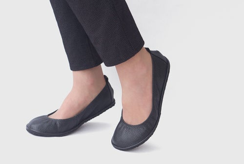 Image of Eko ballet flats - in Pebbled Black