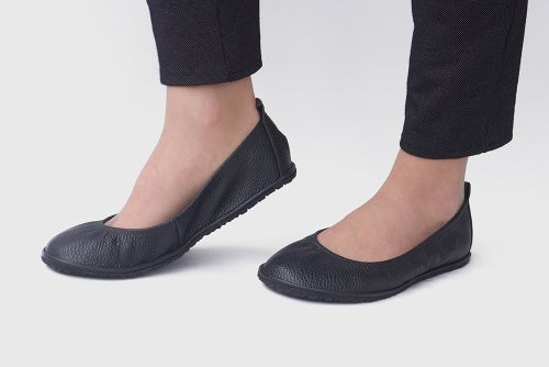 Image of Eko ballet flats in Pebbled Black