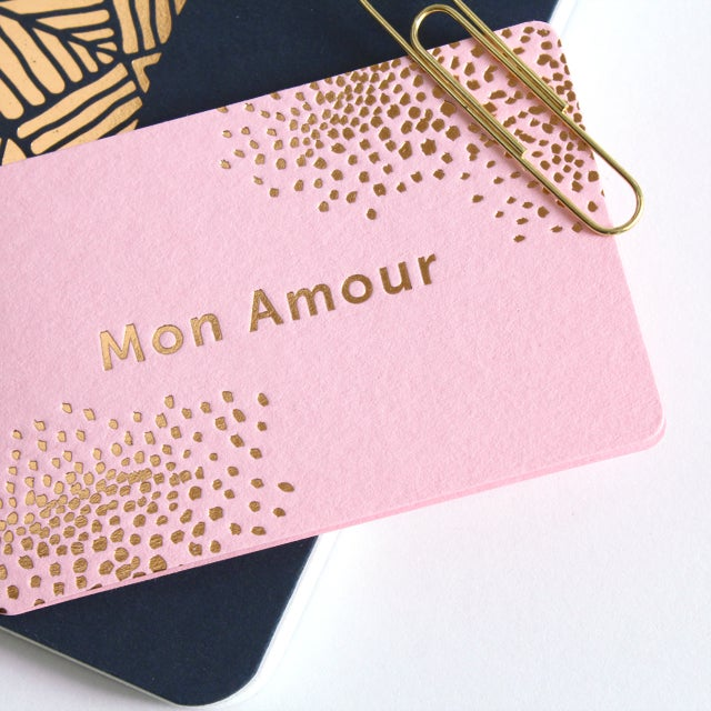 Image of MINI-CARTE MON AMOUR ROSE