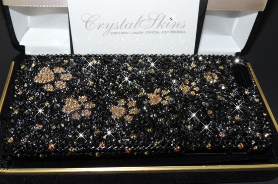 Image of Black Lavish Deluxe With Gold Paw Prints