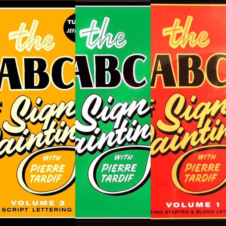 Image of The ABC of Sign Painting with Pierre Tardif - BOX SET (3 DVD's)