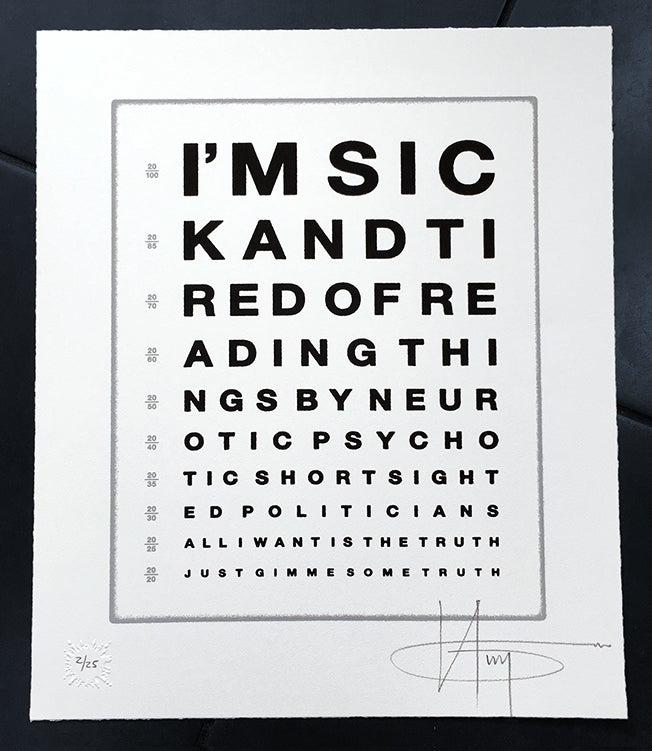 Image of  JOHN LENNON'S - GIMME SOME TRUTH - 3 PRINTS LEFT