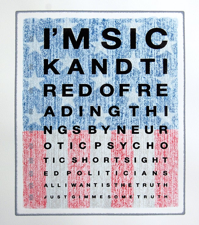 Image of GIMME SOME TRUTH - USA edition of only 5 - 1 PRINT REMAINING