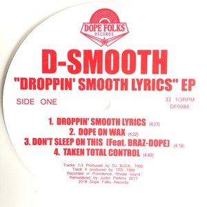"Image of D-SMOOTH ""DROPPIN' SMOOTH LYRICS"" EP"